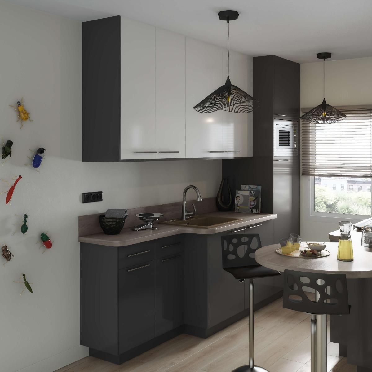 Delinia Sevilla Grey Designer Kitchen Mobi - Example 4