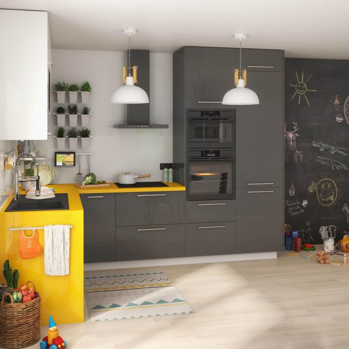 Delinia Sevilla Grey Designer Kitchen Mobi - Example 2