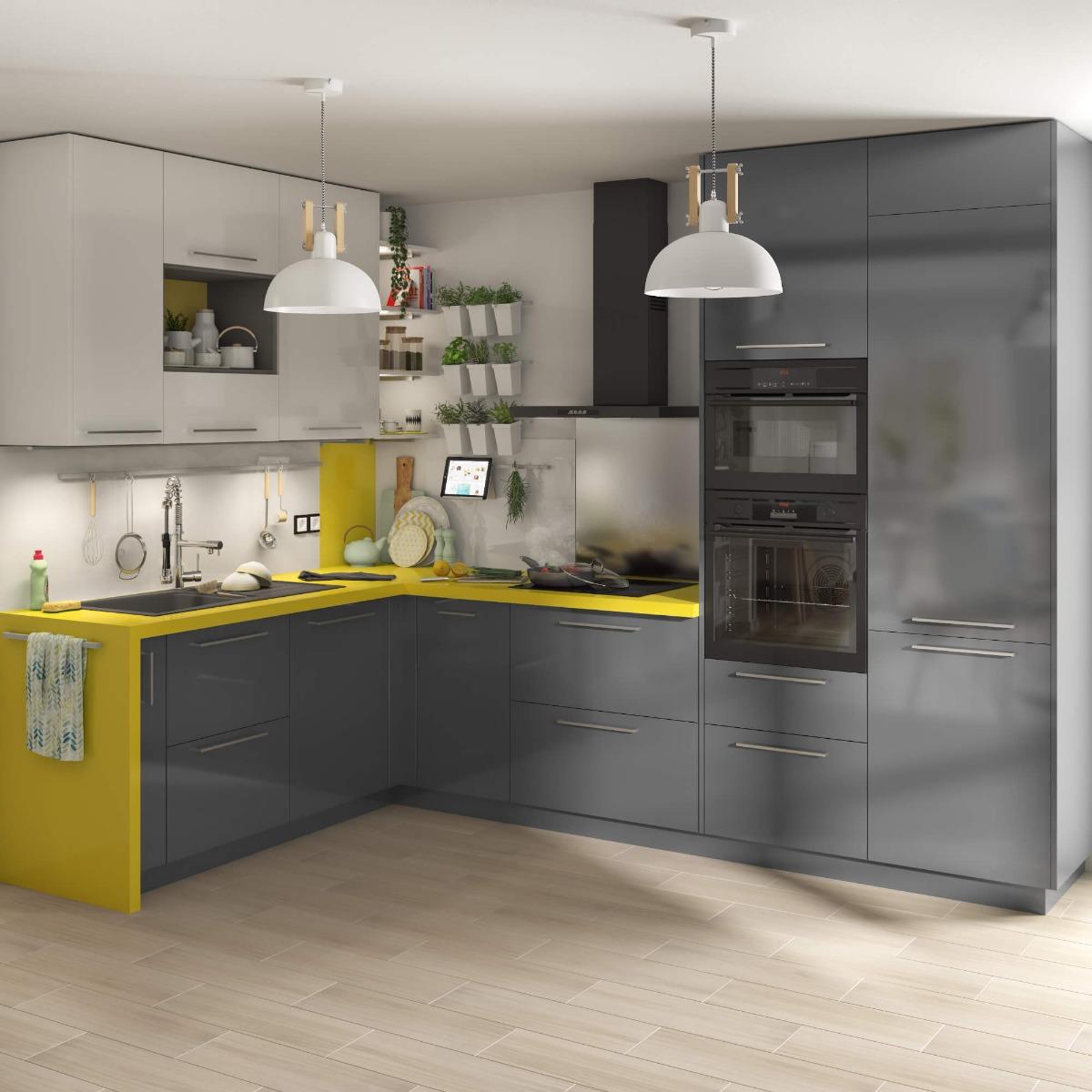 Delinia Sevilla Grey Designer Kitchen Mobi - Example 3