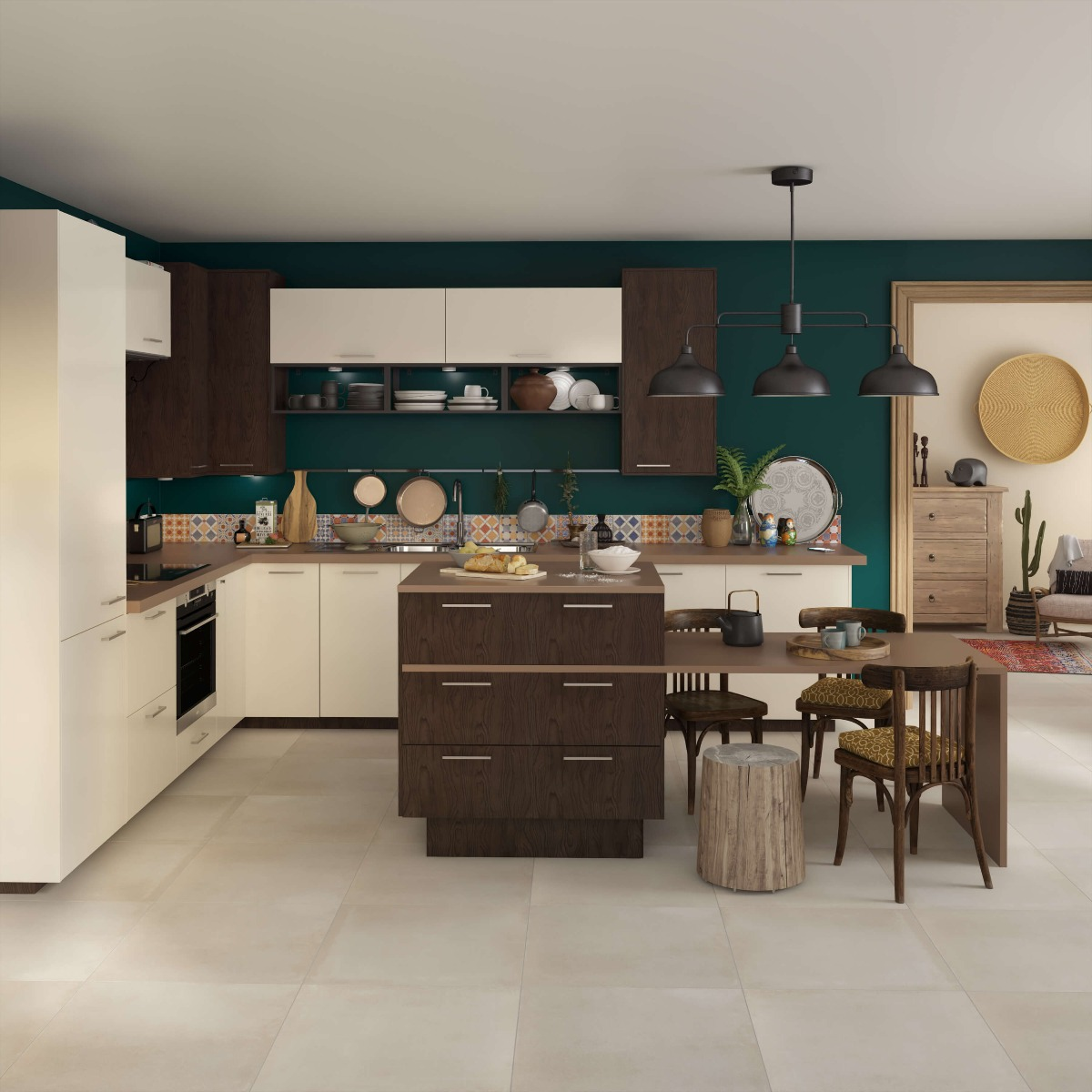 Delinia Sevilla Ivory Designer Kitchen Mobi - Example 2