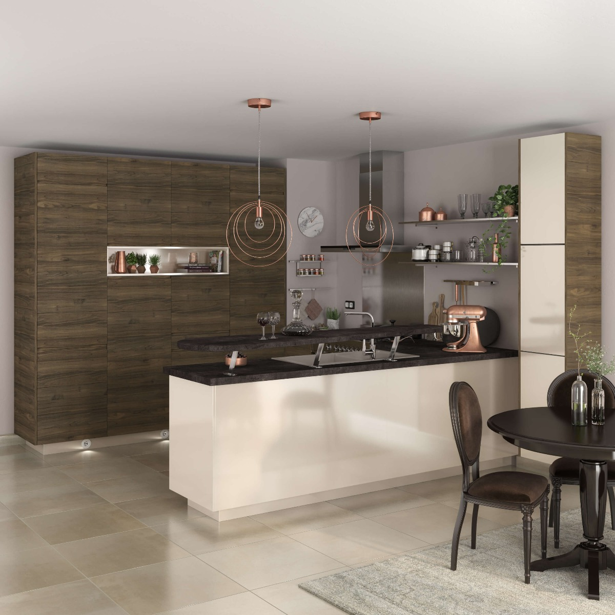 Delinia Sevilla Ivory Designer Kitchen Mobi - Example 3