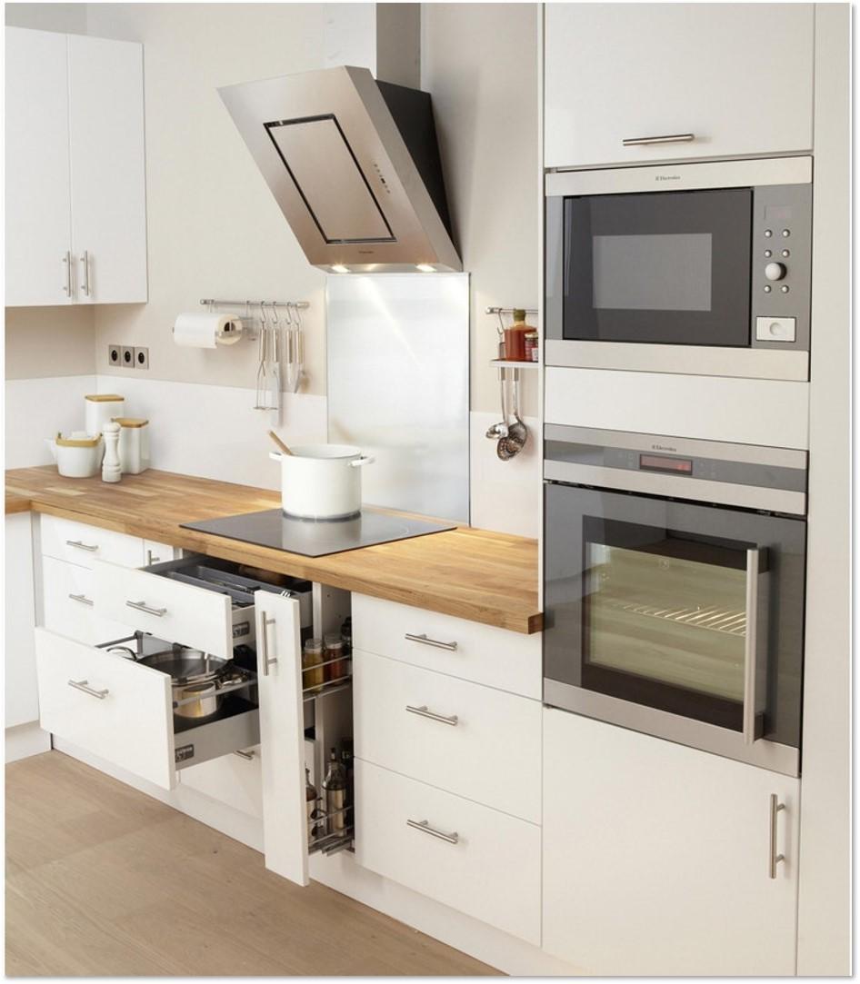 Delinia Sevilla White Designer Kitchen example in mobi view