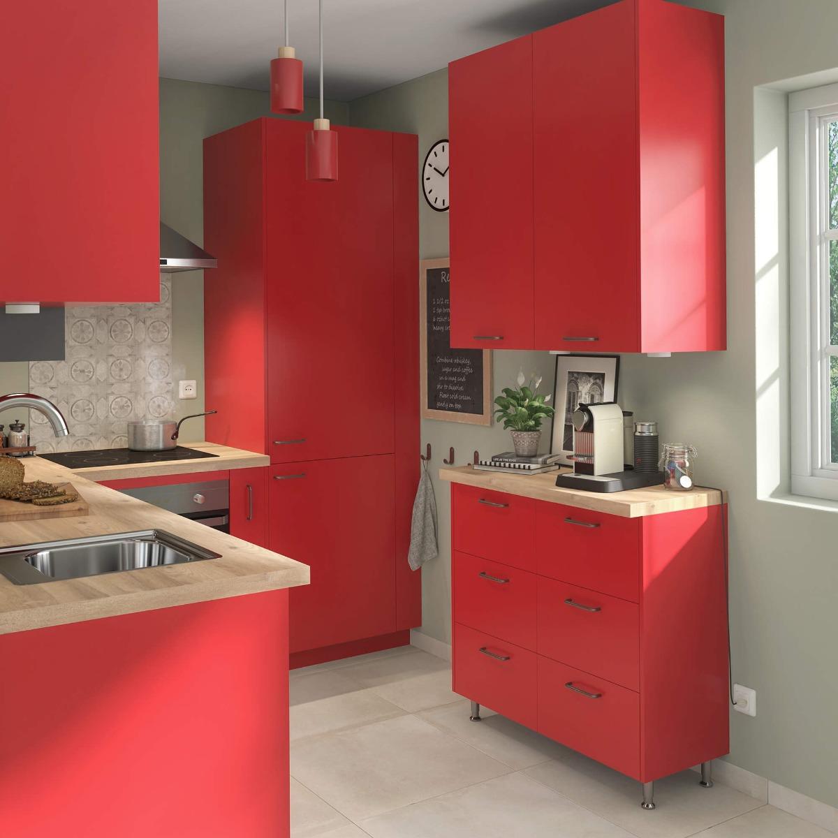 Delinia Sofia Red Designer Kitchen Mobi - Example 1