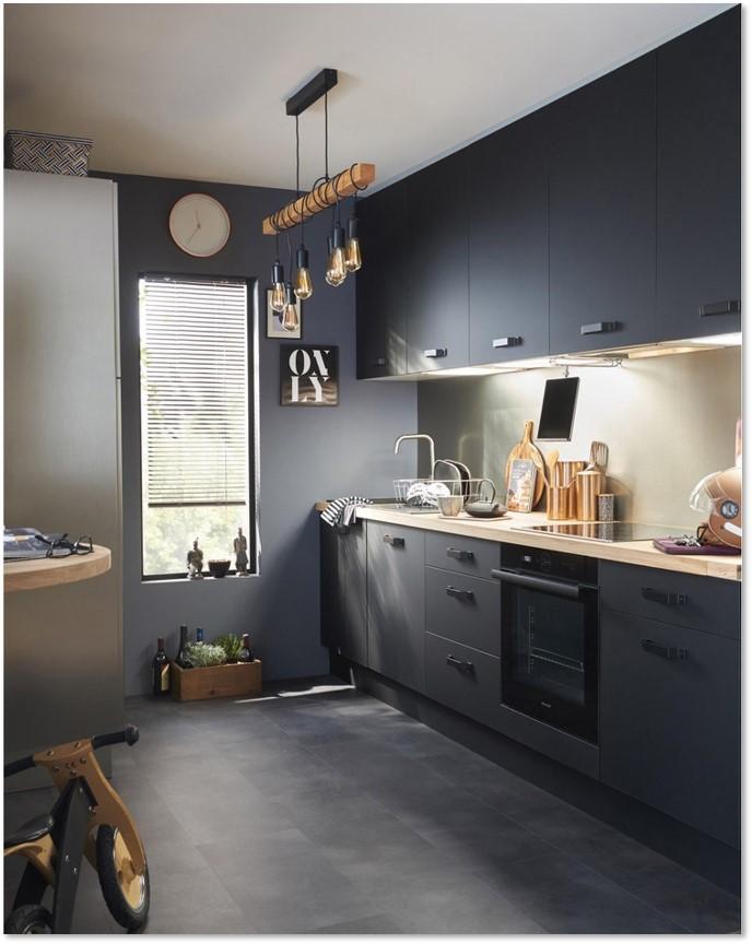 Delinia Soho Black Designer Kitchen Mobi - Example 4