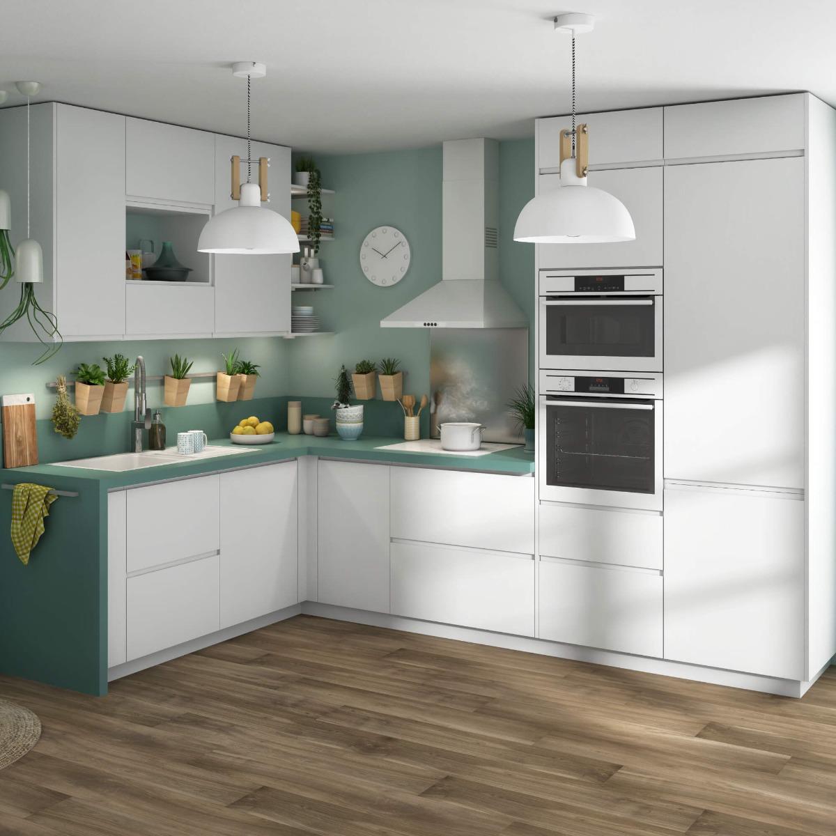 Delinia Tokyo White Designer Kitchen Mobi - Example 1