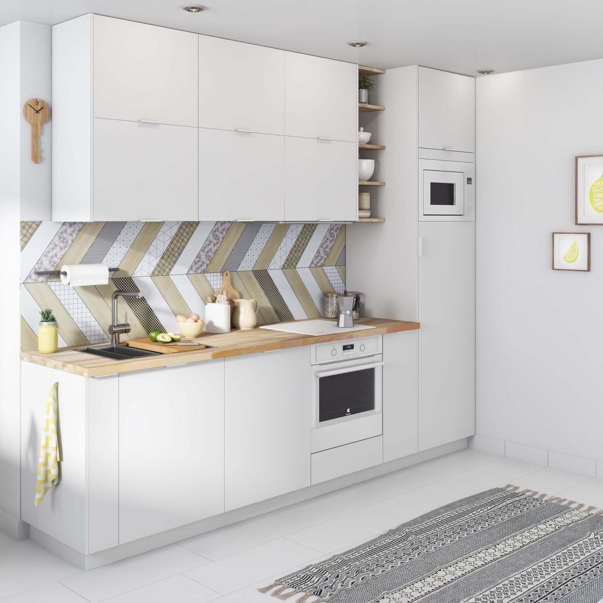 Delinia Tokyo White Designer Kitchen Mobi - Example 2