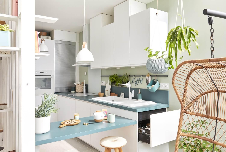 Delinia Tokyo White Designer Kitchen Mobi - Example 3