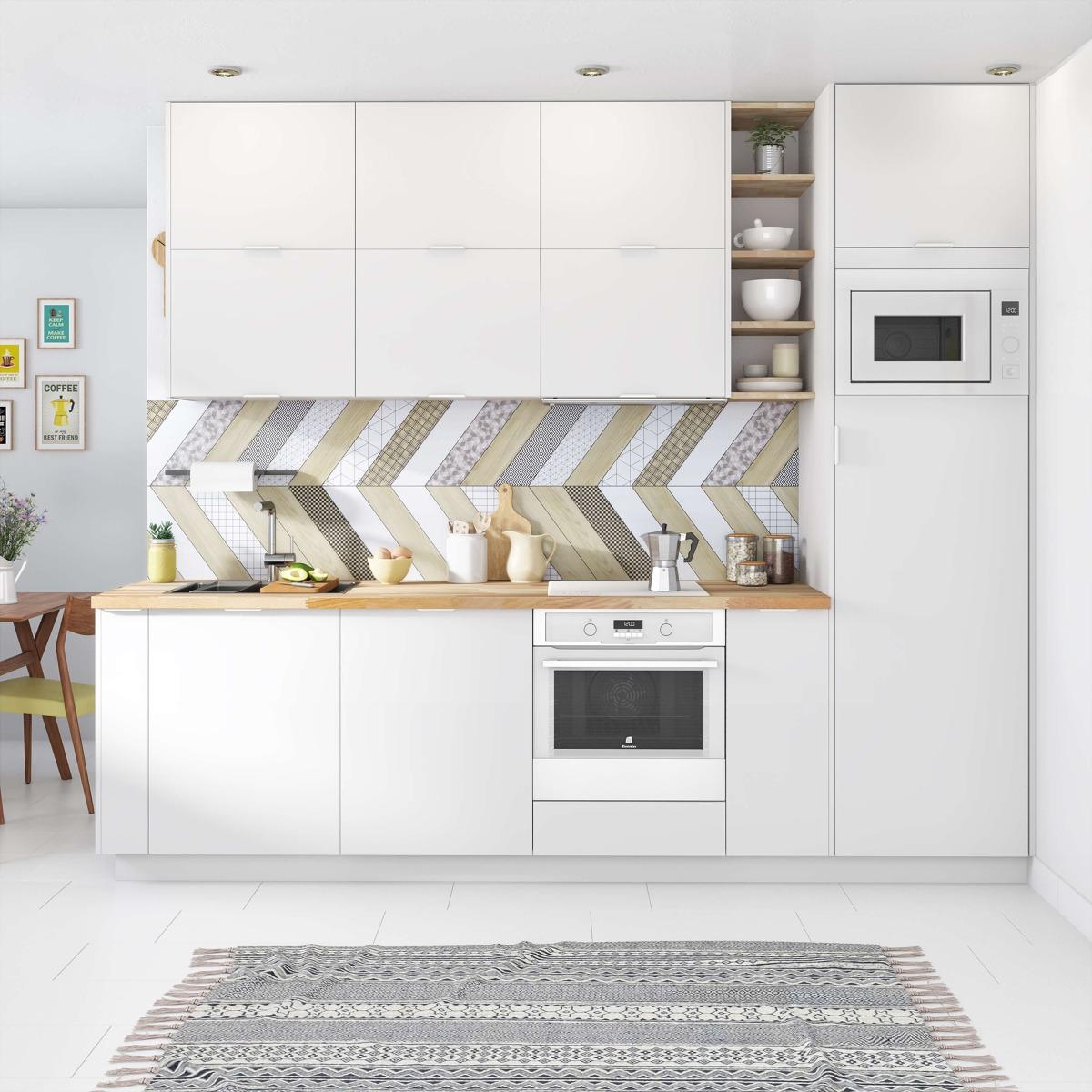 Delinia Tokyo White Designer Kitchen Mobi - Example 4
