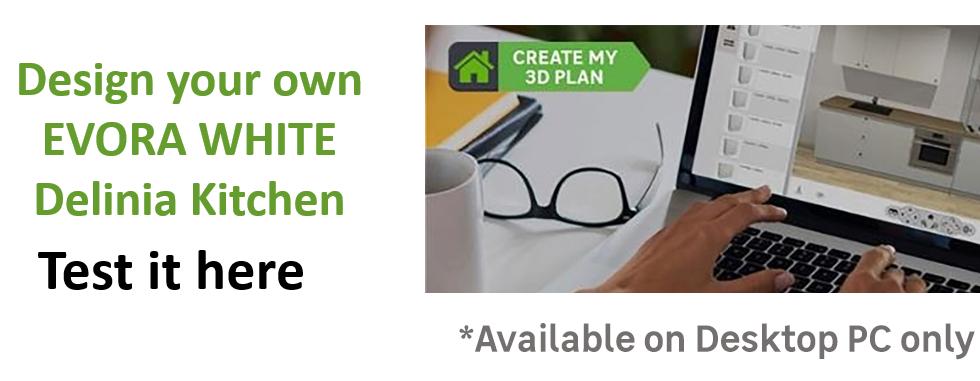 Create or Design your own Delinia Evora White Designer Kitchen