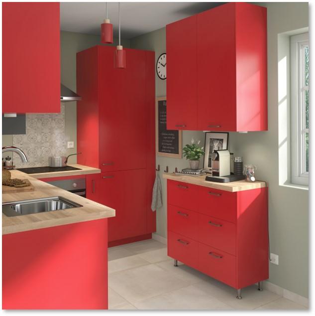 Delinia Sofia Red Designer Kitchen - Example 1