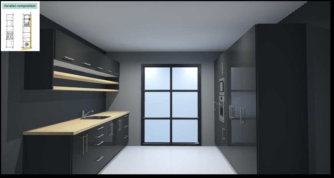 Sevilla Black Inspirational kitchen layout examples - Example 5