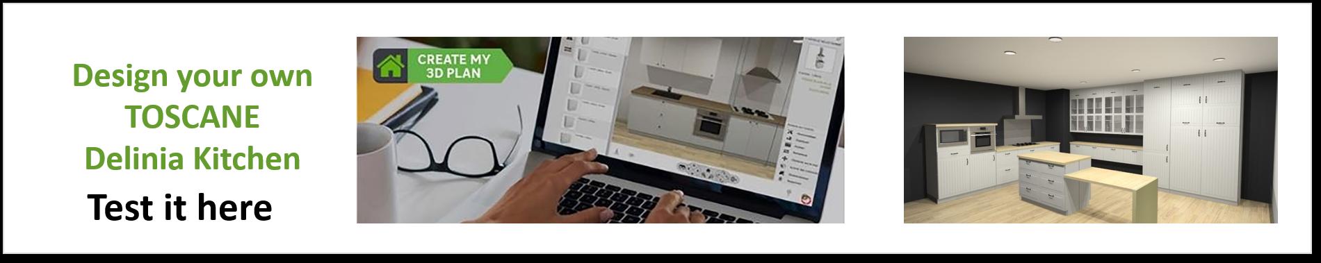 Create or Design your own Delinia Toscane Designer Kitchen