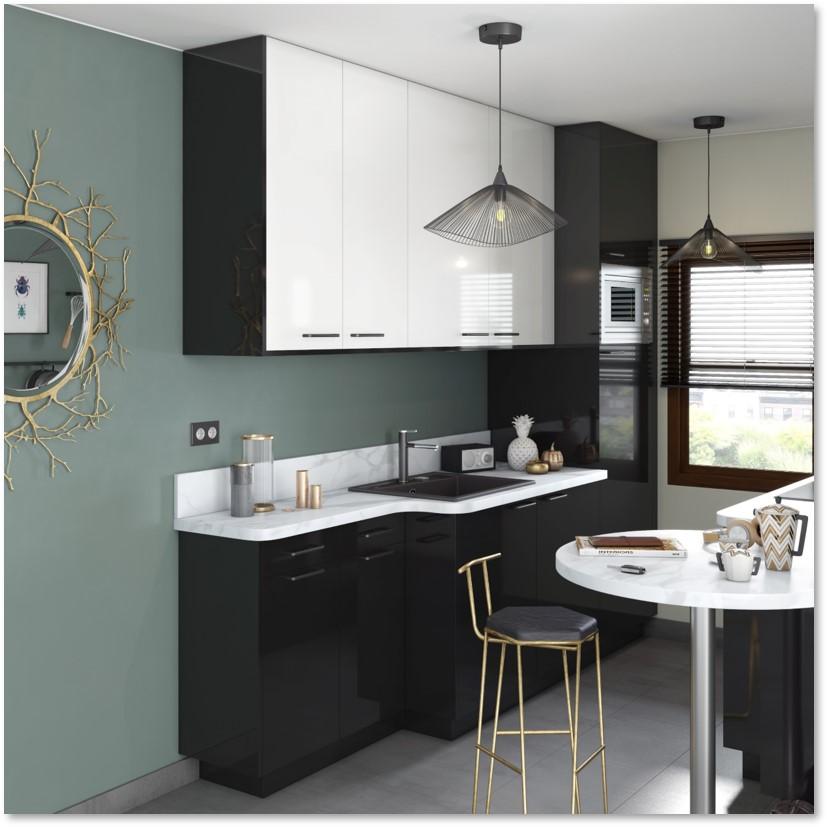 Delinia Sevilla Black Designer Kitchen - Example 4