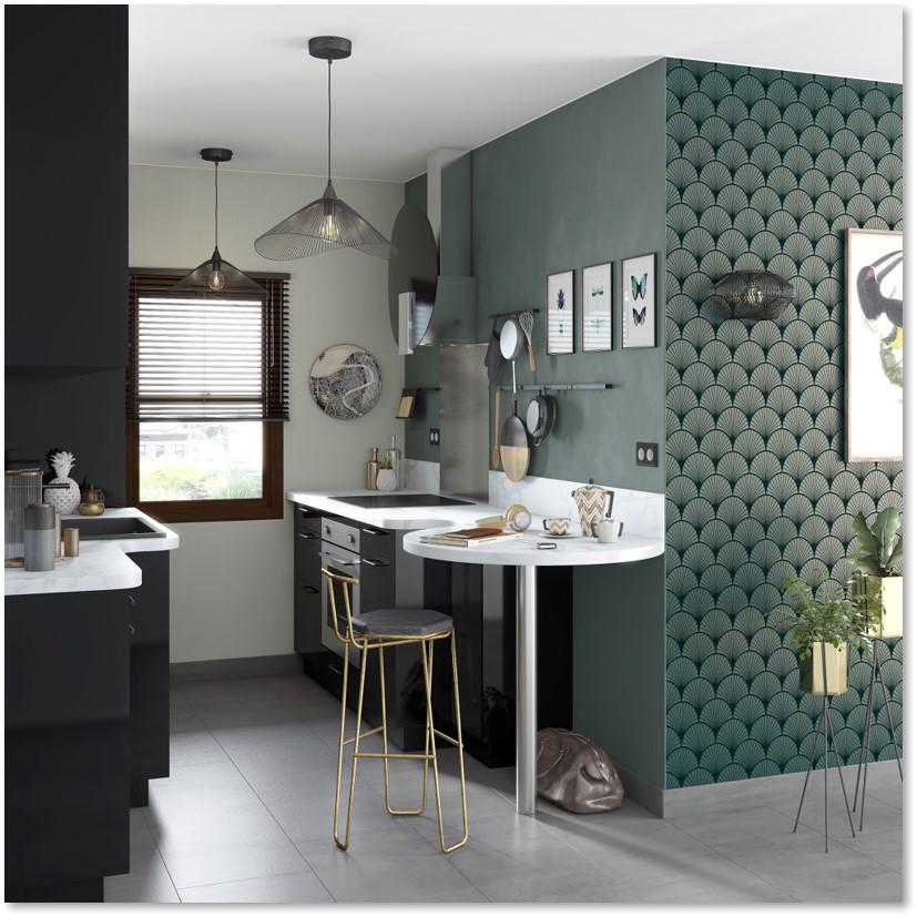 Delinia Sevilla Black Designer Kitchen - Example 3