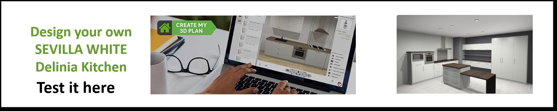 Create or Design your own Delinia Sevilla White Designer Kitchen