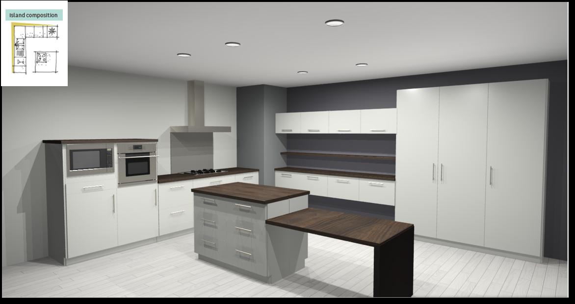 Sevilla White Inspirational kitchen layout examples - Example 6
