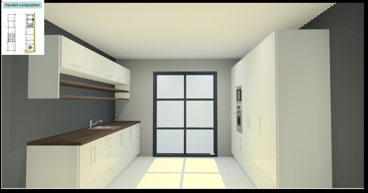 Sevilla White Inspirational kitchen layout examples - Example 5
