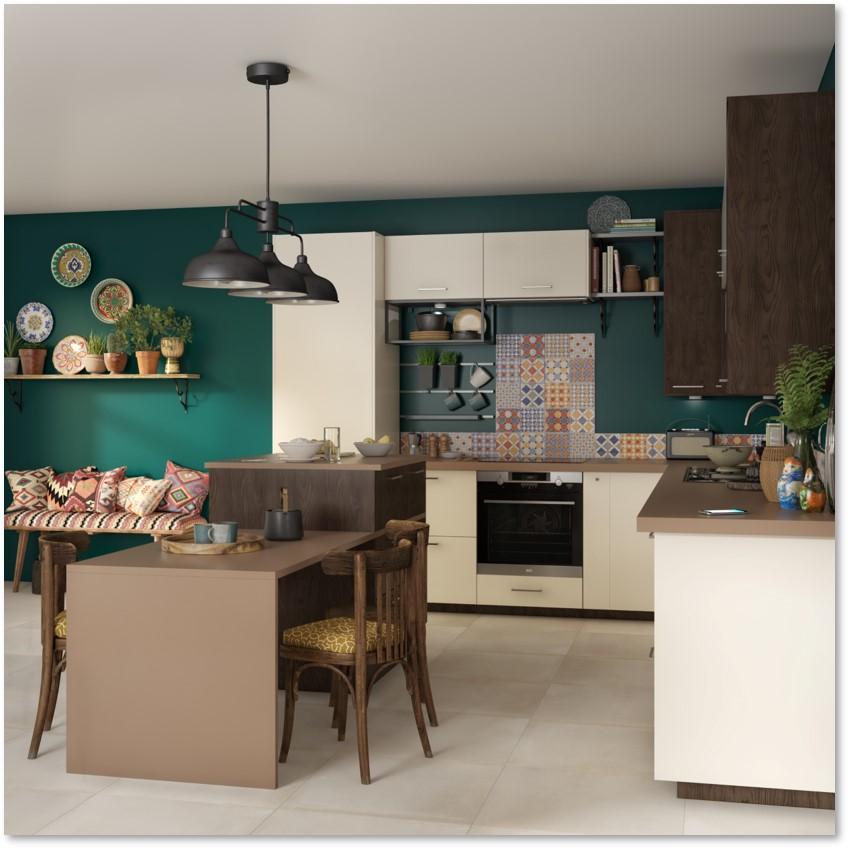 Delinia Sevilla Ivory Designer Kitchen - Example 1