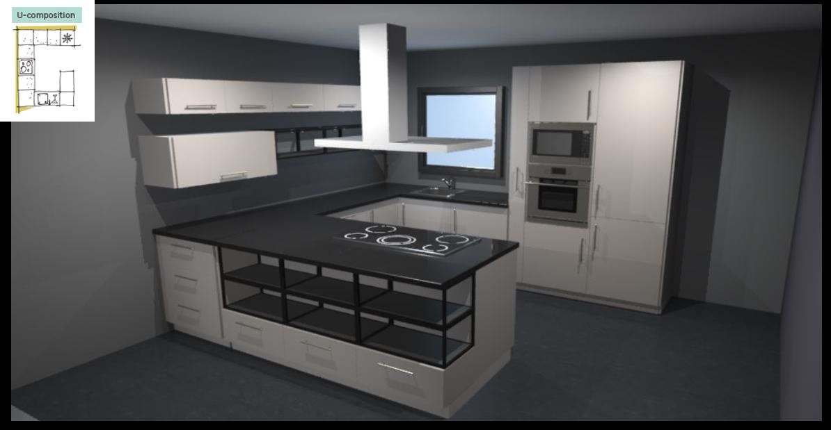 Sevilla Ivory Inspirational kitchen layout examples - Example 3