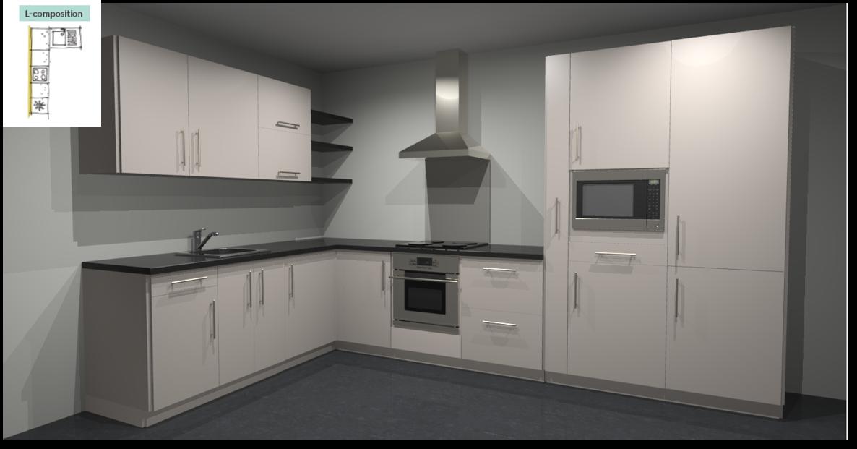 Sevilla Ivory Inspirational kitchen layout examples - Example 2
