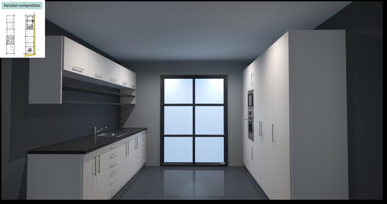 Sevilla Ivory Inspirational kitchen layout examples - Example 5