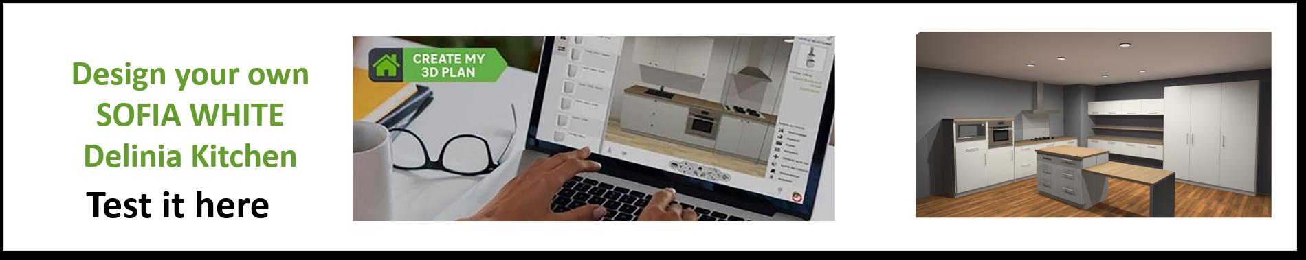 Create or Design your own Delinia Sofia White Designer Kitchen
