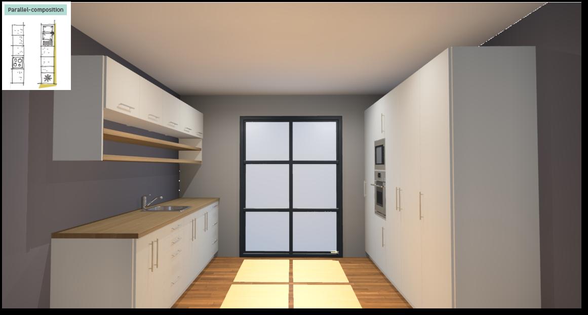 Sofia White Inspirational kitchen layout examples - Example 5