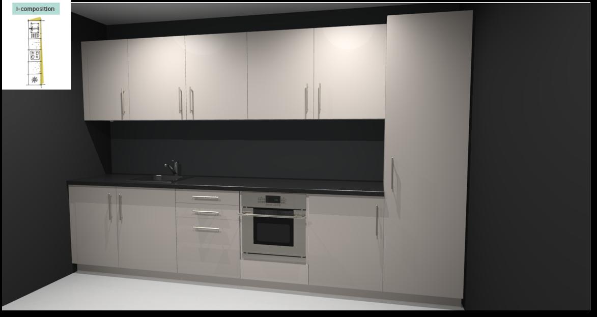 Sevilla Ivory Inspirational kitchen layout examples - Example 1