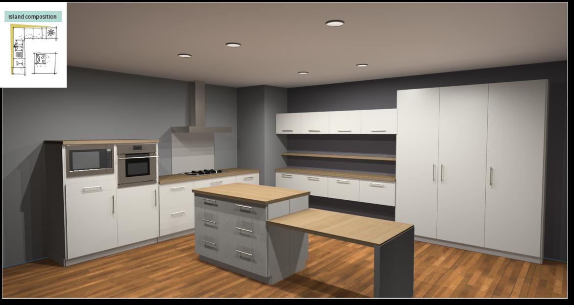 Sofia White Inspirational kitchen layout examples - Example 6