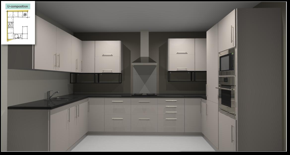 Sevilla Ivory Inspirational kitchen layout examples - Example 4