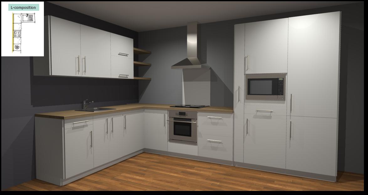 Sofia White Inspirational kitchen layout examples - Example 2