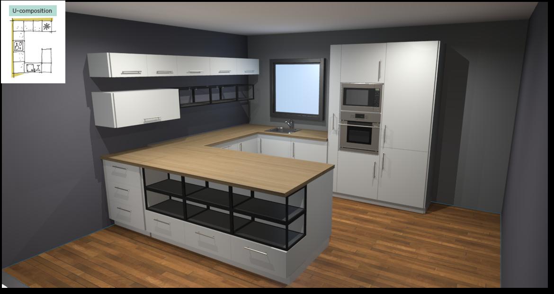Sofia White Inspirational kitchen layout examples - Example 3