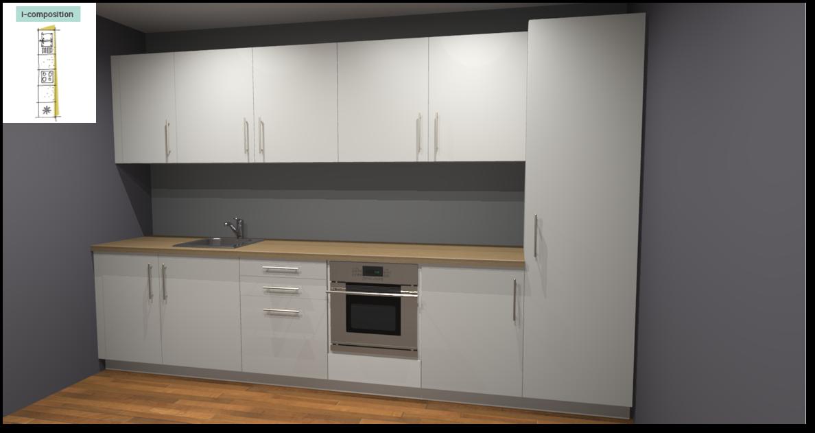 Sofia White Inspirational kitchen layout examples - Example 1