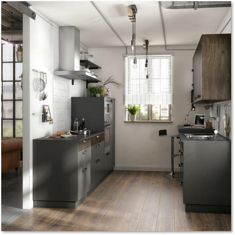 Delinia Soho Black Designer Kitchen - Example 2
