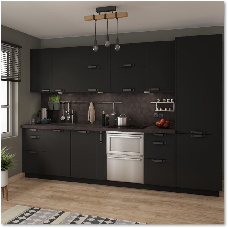 Delinia Soho Black Designer Kitchen - Example 1