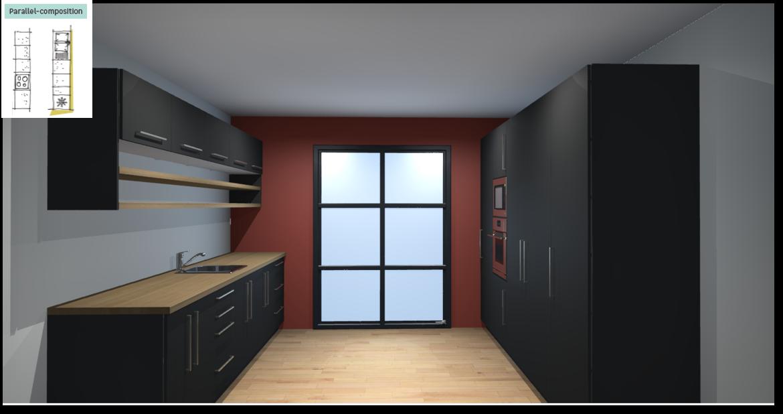 Soho Black Inspirational kitchen layout examples - Example 5