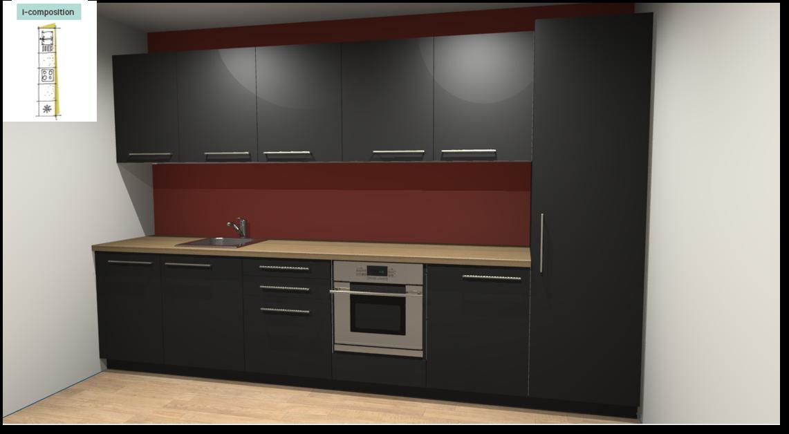 Soho Black Inspirational kitchen layout examples - Example 1