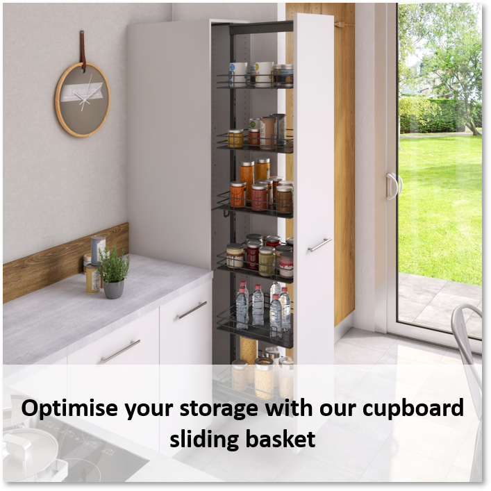 Optimize kitchen storage with sliding baskets - mobi view