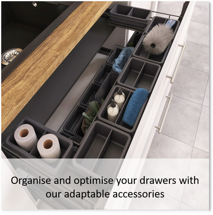 Organize and optimize your drawers with our adaptable accessories