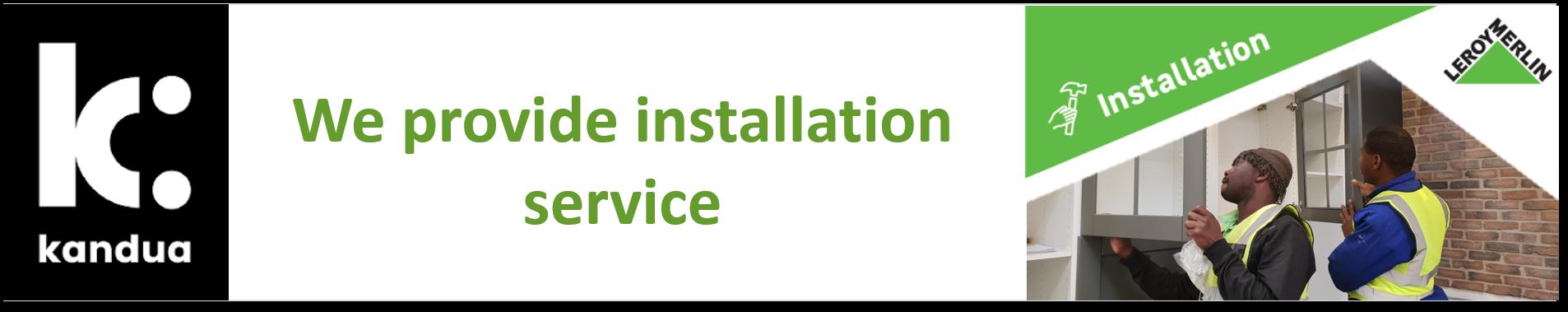 Kandua Kitchen Installation Service