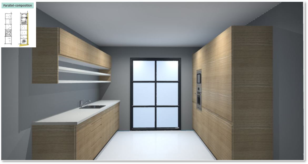 Tokyo Walnut Inspirational kitchen layout examples - Example 5
