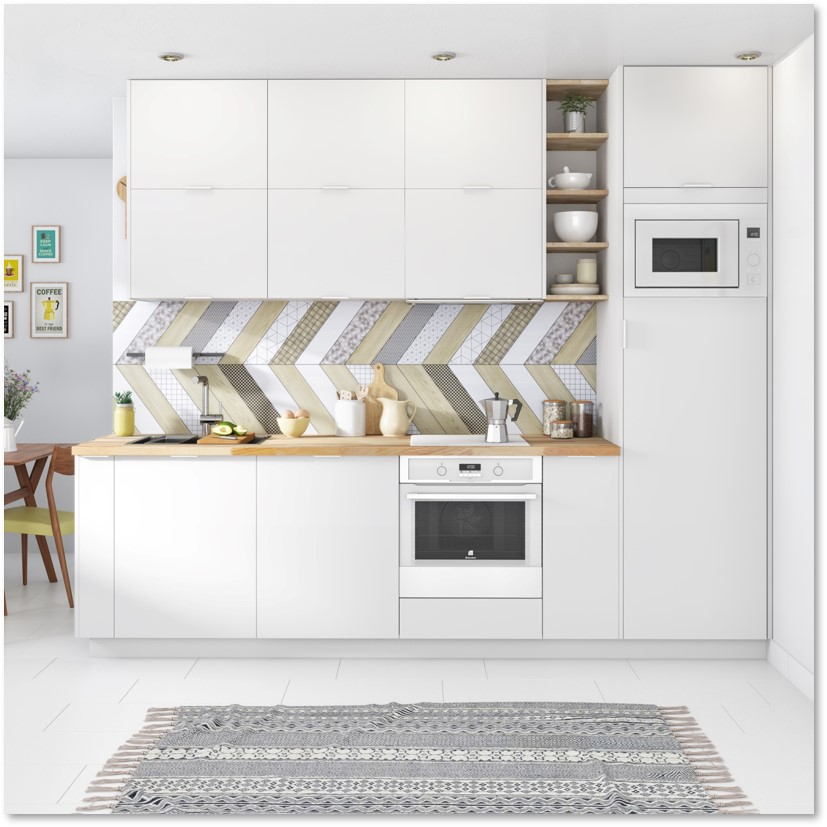 Delinia Tokyo White Designer Kitchen - Example 4