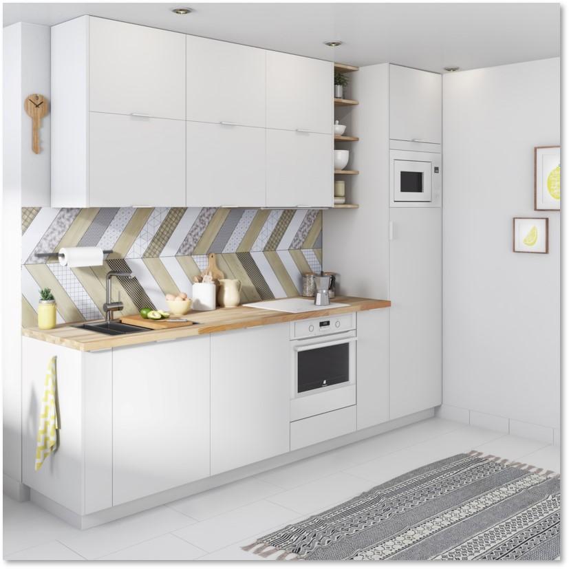 Delinia Tokyo White Designer Kitchen - Example 2